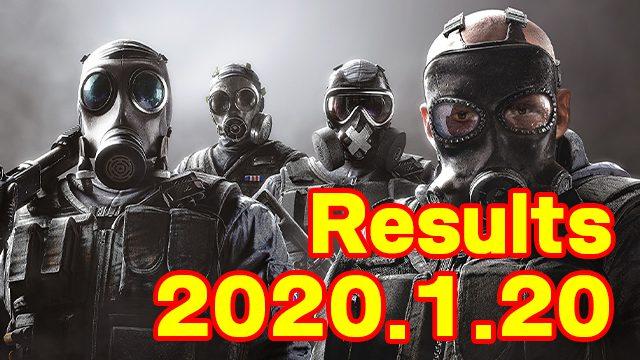 eスポーツ結果まとめ2020.1.20