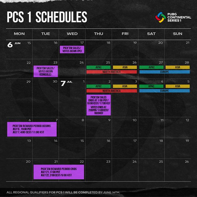 PCS-1-schedule